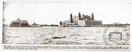 USA New York. View of Ellis Island