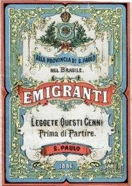 Cover of an emigrant guide published in São Paulo, 1886