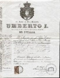 Passport belonging to Maria Colarusso, 1896