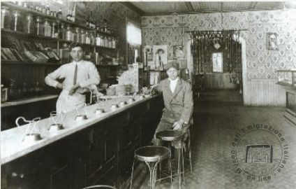 Giorgio Lemetti inside his bar in the United States of America