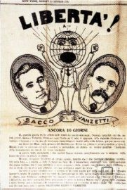 A leaflet taking Sacco and Vanzetti's side, distributed a few days before their execution