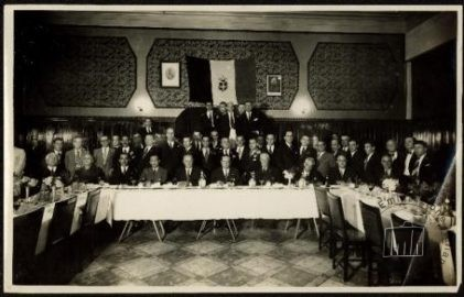 Guatemala, Guatemala City, 1930s. A convivial gathering of the Italian community