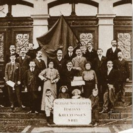Germany, Kreuzlingen, 1913. Members of the Italian socialist section