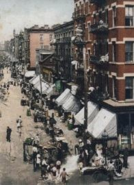 USA, New York, early 1900s. Hester Street