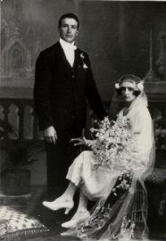 Argentina, Buenos Aires. Wedding couple from the Piagentini and Bechelli families